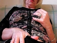 Slutty in stockings fists her Victorian vagina