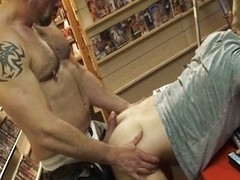 Bareback make the beast with two backs in sexshop