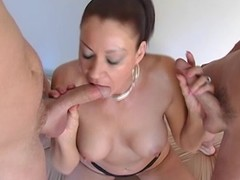 Enticing Vanessa Videl drools  these hard dicks