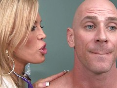 blonde grown-up falsify gives a titjob