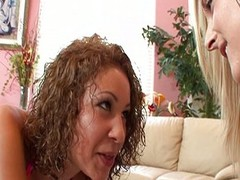 Wife watches husband fuck Latina