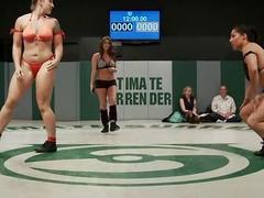 sluts wrestling naked for domination