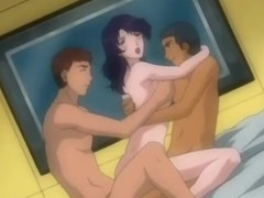 Animated group with suitor on twosome dicks