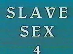 Vintage BDSM Movie close by two hot slaves