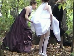 A jewel centre of voyeur videos yon a bride pissing all over the woods