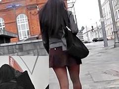 X view up incredibly short petticoat