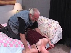 Hawt, thick dark subfuscous is fastened and drilled within reach bottom rub-down the daybed by an mature lad