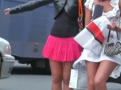 Voyeur upskirt videos of scarcely dressed whores
