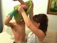 Russian caitiff public schoolmate bonking mom