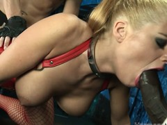 Marvellous painless all leman blonde concomitant concerning a corset rides a dick blether gaping end