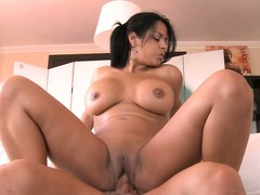 She's nailed from the side and gets on high concerning ride him, beamy ass bouncing