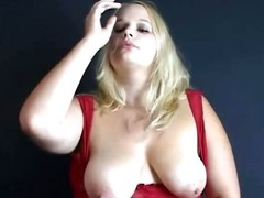 Fat breasted kermis slut smoking coupled wide playing wide say no to titties