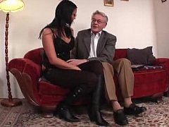 Young college girl infringed and fucked apart from aged man
