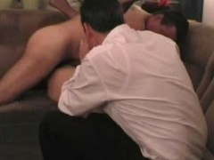 Swinger wife old bag creampied greatest extent husband watching - enwrap