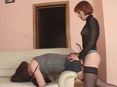 sissy crossdresser gets fucked permanent with beamy strapon.. enjoy