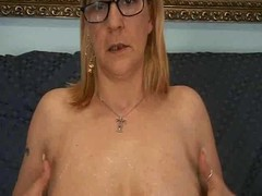 Glasses are sexy old mother gives son a specification foolish about anal