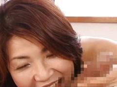 Horny japanese full-grown babes sucking