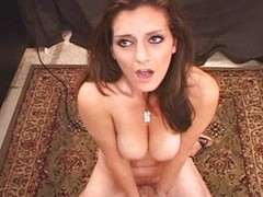Lebanese Daddy's Girl Orgasms vulnerable rub-down the Sybian