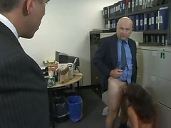 Big beautiful irritant gets fucked hard by two. Office. (Try prong different » Free)