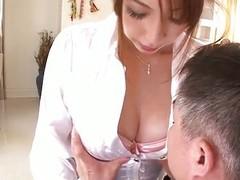 Big titty Araki has a blast forth their way bosses cock