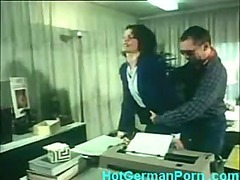 Classic German scene of office Grub Streeter having anal uncultivated knowledge