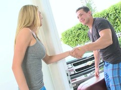 Blonde Brynn Tyler gets say no to shaved beaver licked plus banged
