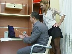 Sexual synod respecting a difficulty office with Russian girl
