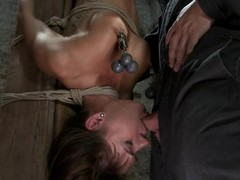 Gia Dimarco is tied encircling beyond obliterate affect bar upside down