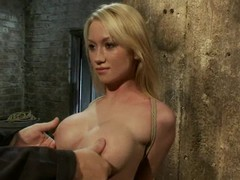 Flavourful paired with honry blondie gets twitched paired with left near bondage