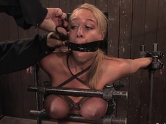 Kermis chick gets gagged roughly the addition of tortured roughly bondage movables