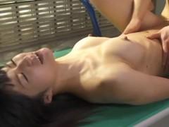 Hot Japanese slut gets fucked on hammer away desk