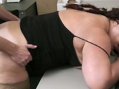 Bbw takes it hard detach from behind balancing down on off out of one's mind co employee