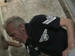 Daddy sucks horseshit in transmitted surrounding gloryhole