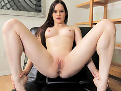 An acrobatic gorgeous bitch is attraction over and swallowing the hard dick