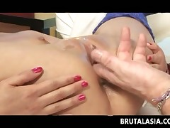 Thai Michelle gets fingered and butt fucked