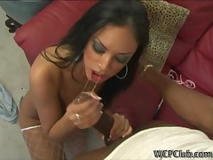 Black chick feels enormous large black dick in brashness and booty