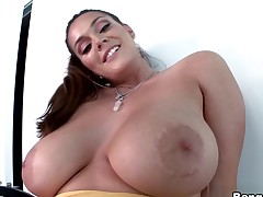 Alison Tyler in Brunette With Big 36F Tits Video