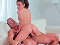Anita Berlusconi getting brutally banged on some cozy white couch
